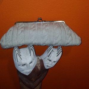 Knit, sweater clutch bag